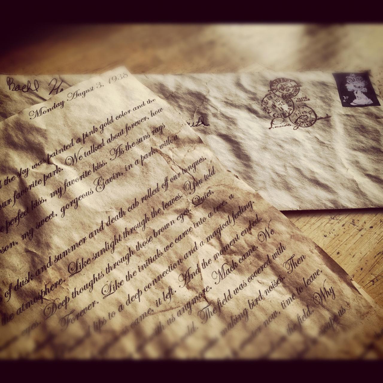Image result for old loving letter